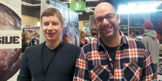 Garry Brown and Brian Wood of Dark Horse's The Massive at ECCC 2013