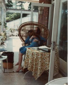 """""""In Memory of my Dad, who I loved with all my heart and soul ... Dad and Me 1979 on the back veranda of Abbots Mead."""""""