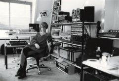 Vivian in her bedroom where she wrote the score for 'Full metal Jacket' 1987