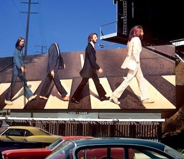 Beatles Sunset Strip Billboard for Abbey Road