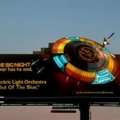 ELO billboard on the Sunset Strip circa 1979