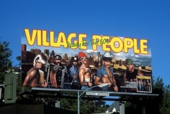 Village People Billboard on the Sunset Strip